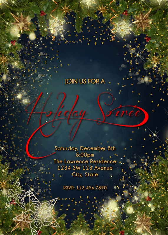 holiday soiree invitation holiday party invitation