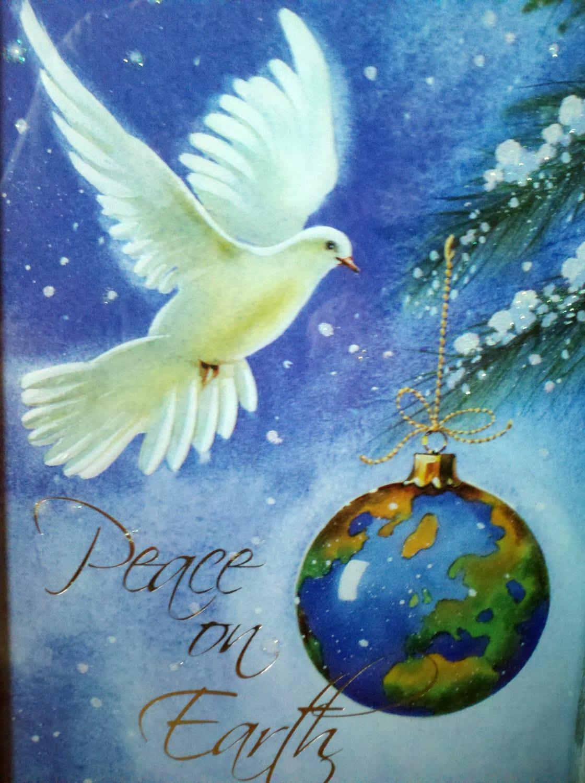 Peace On Earth Dove Peace on earth framed card