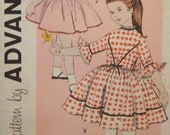 Vintage 1960's Advance 9385 Printed Pattern Designed by Cinderella of Rosenau Bros. for Child's Dress in Size 6