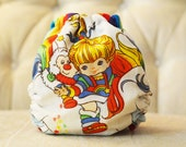 Upcycled Rainbow Brite One Size, YOU PICK AIO or Pocket, comes with insert