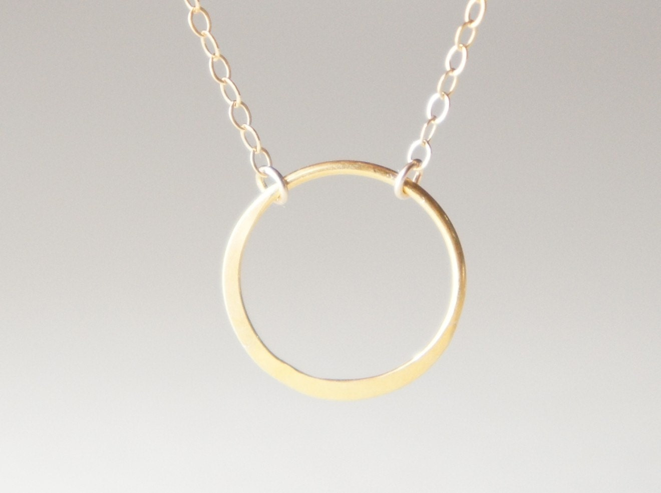Eternity Karma Ring Necklace Halo Circle Necklace By