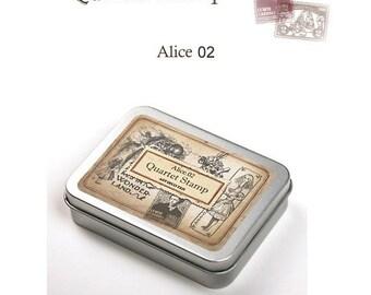 Alice in Wonderland ver.02 Rubber Stamp Set of 4ea **