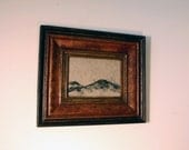 Mountains, Lithograph on handmade paper, Framed, Mount Ararat