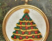 Sale Vintage Christmas Tree Ornament Embroidery Kit  New
