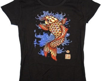 Ladies t-shirt / Japanese koi fish design