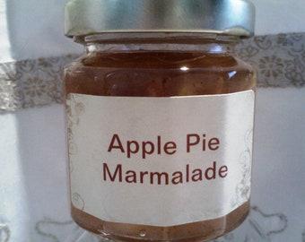 Apple PIE Marmalade/ Fall Jam / 4 oz/ Favors/ Wedding Welcome Bags / Holiday Gift Baskets / Treasury Item