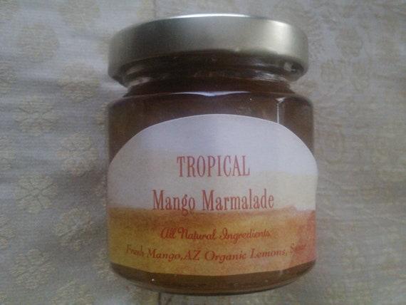 TROPICAL Mango Marmalade / Wedding Favors. Welcome Wedding Bags/ Gift Baskets-4 oz (125 ml)