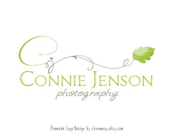 Premade Photography Logo and Watermark - Custom Premade Logo  -  Custom Business Logo Design - Photography Props