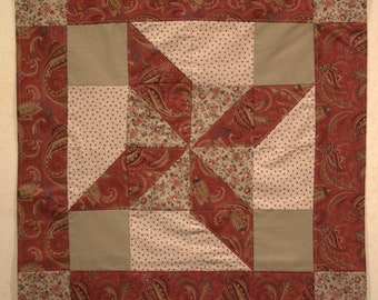 Rust and Tan Clay's Choice Quilt Wall Hanging