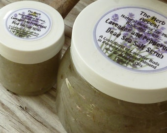 SAMPLE 4oz Lavender and Peppermint Dead Sea Salt Scrub