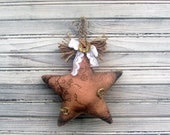 primitive gift,Primitive star,  Decorative star,  Rustic star,  Country Christmas,  OOAK,  Wall Decor,  Home decor