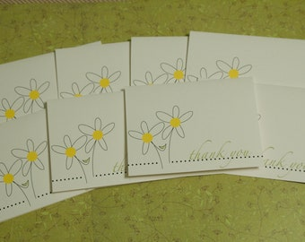 Daisy Thank You card set of 8