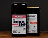 WOMENS Natural Deodorant Deoderant Stick Vegan