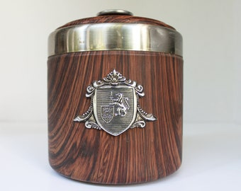 Vintage Kaywoodie Humidor w/ Silver Lion Crest - Made in Japan