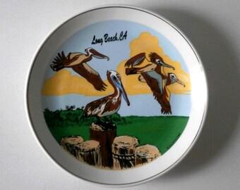 Vintage California Plate Long Beach Souvenir