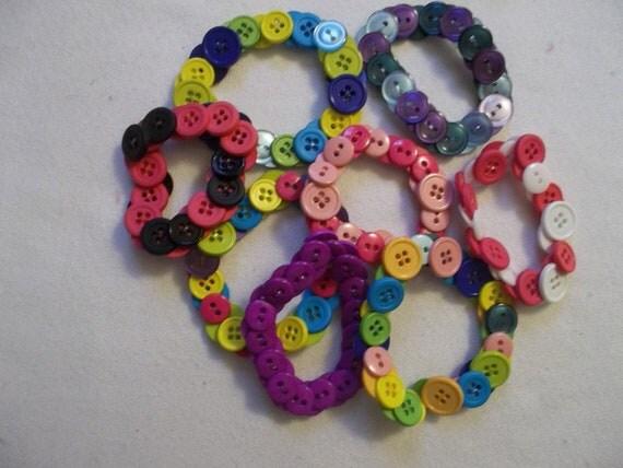 Colorful Stretch Button Bracelets 3Bracelets