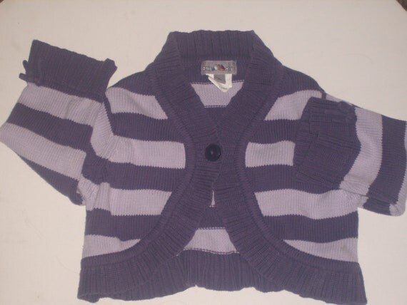bold plum and lilac toddlers bolero style sweater