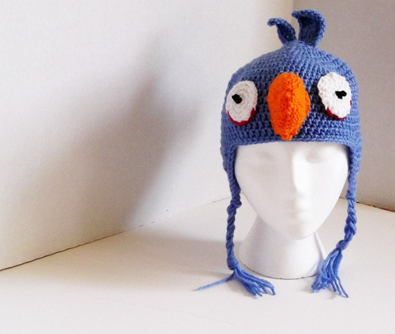 Irate Bluebird Earflap Hat