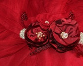 Custom Sash, Bridesmaid, Flower Girl, Special Occasion, Evening Gown, Photo Prop, Pregnancy Sash, Red, Dupioni, Silk, Crystal