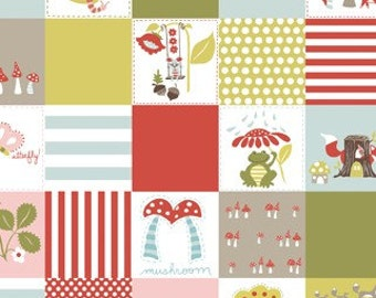 Monaluna Fresh Organic Fabrics Fox Hollow Collection One Yard of Happy Patch