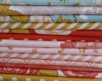 Stitch Studios Cyndi Walker for Riley Blake Marguerite Collection One 21 Piece Fat Quarter Yard Bundle