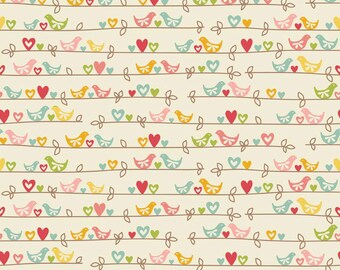 One Yard of Sweetest Bird in Cream from The Sweetest Thing by Zoe Pearn