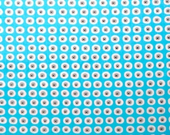 Monaluna Organic Fabrics Havana Collection One Yard of Buttons in Blue