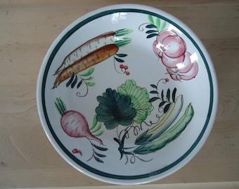Vintage Ceramic Hand Painted Salad Bowl