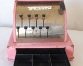 RESERVED for Rochelle tom thumb pink toy cash register