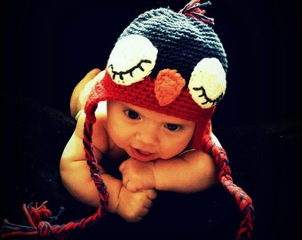 Crocheted Baby Bird Hat
