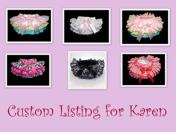 Custom Listing for Karen: Ruffles All the Way Around Custom Ruffle Bloomers Diaper Cover by Bloomin Cuties Boutique