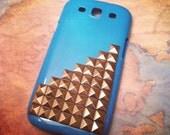 Samsung Galaxy S3 SIII Blue Studded Steampunk case