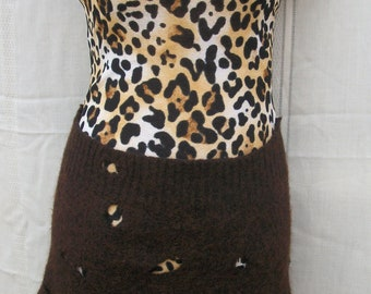 Clearance! Cave Woman Costume, Size Small, Shrug, Necklace, Hair Clip and Purse Included, One of a Kind, Upcyled, Recycled
