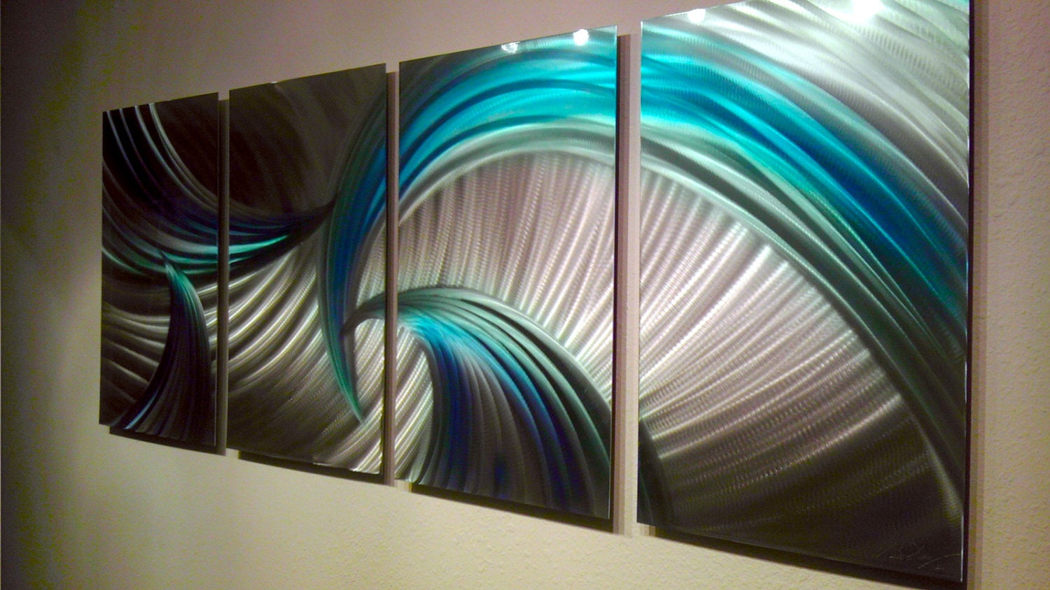Metal Wall Art Decor Abstract Contemporary Aluminum Modern