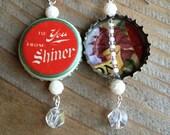 Shiner Holiday Cheer Bottle Cap Earrings