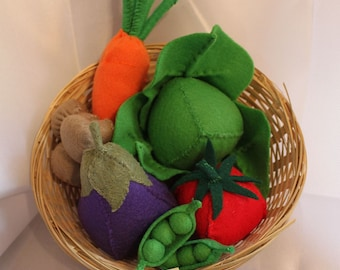 Felt Vegetable Basket