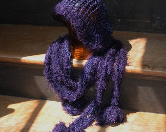 Purple Speakeasy hat and scarf