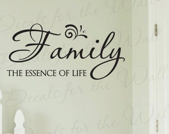 Family Essence Life Love Home Wall Decal Lettering Decoration Vinyl Quote Saying Sticker Graphic Decor Art F21