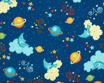 Classic Jurassic Cosmic Toss - Fabric By The Half Yard 18 inches x 44 inches - H
