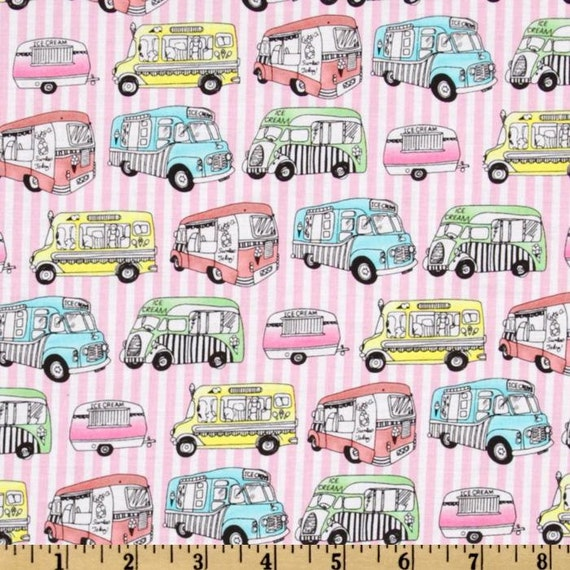 Icing On Fabric: Ice Cream Truck Fabric By The Yard