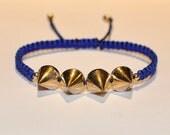 Holiday Sale-Spiked Royal Blue Cobra Bracelet