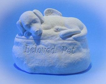 Ceramic Dog Cremation Urn - Pet hand made urn
