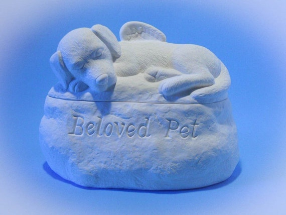 Ceramic Dog Cremation Urn - Pet hand made urn