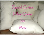 Custom Order for Amy Oval Pillow Form Insert 20 Inches