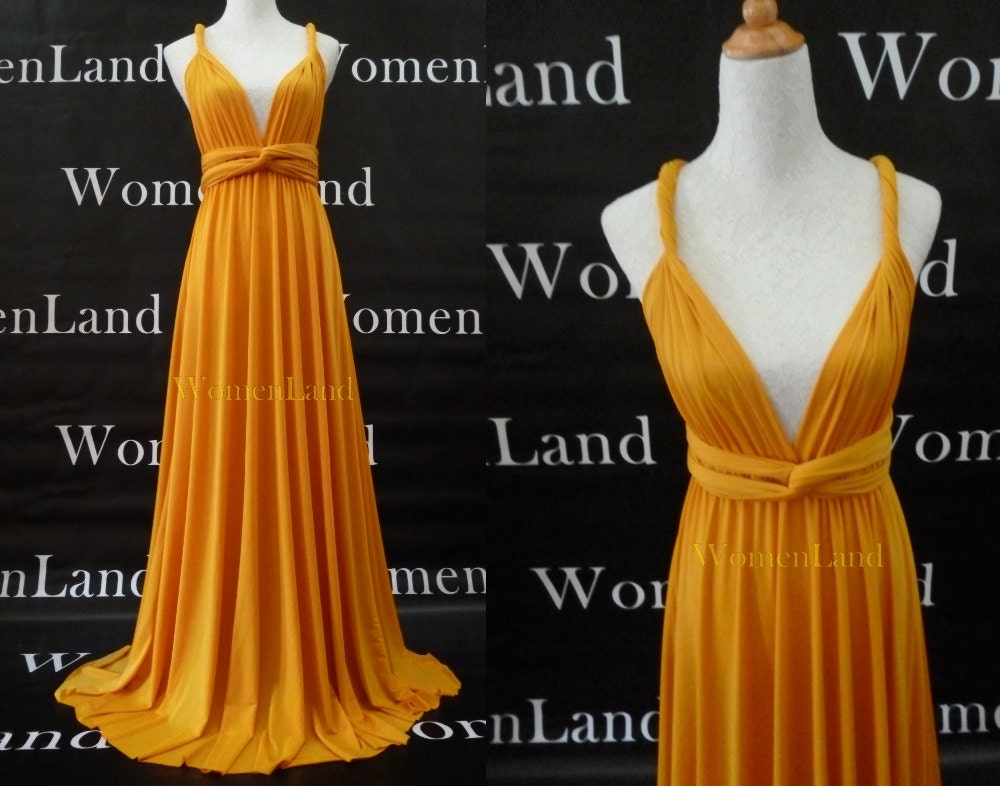 Infinity Dress Convertible Bridesmaid Dress in Golden Yellow