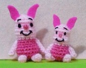 Mini and Super mini Piglet Amigurumi set of 2 - Finish Item