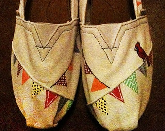 Hand Painted TOMs - Bunting