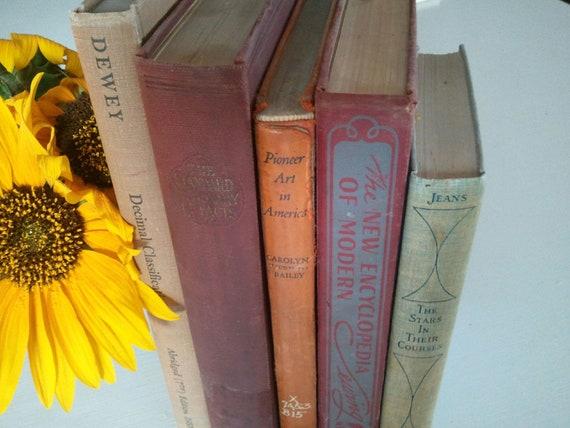 Autumn Hues-Vintage Book Set
