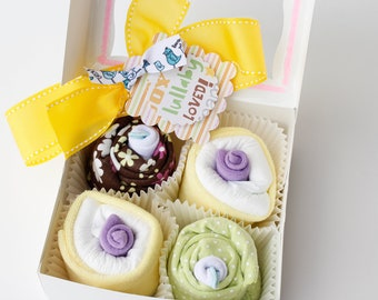 New Baby Shower Gift Set - Onesie Cupcakes (Boy, Girl or Gender Neutral)