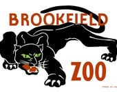 Brookfield ZOO Digitally Remastered Vintage Fine Art Poster / Print Home Decor